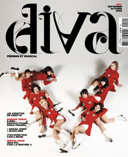 Couverture Les Vedettes Diva Magazine